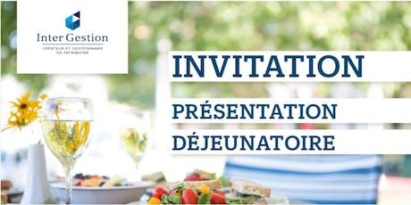 Déjeuner de présentation Strasbourg billets