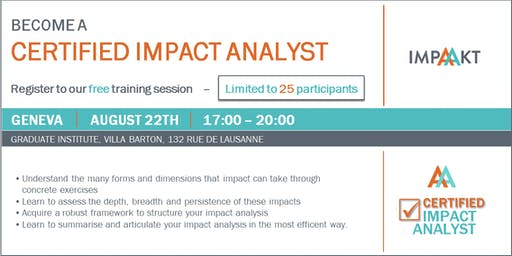 Certified Impact Analyst free training session