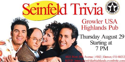 Seinfeld Trivia at Growler USA Highlands Pub