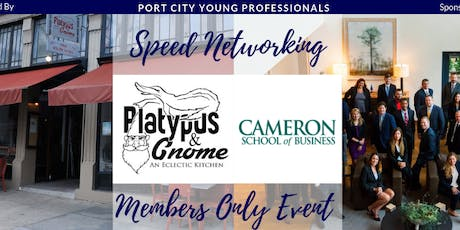 PCYP Members Only Speed Networking Hosted by Platypus & Gnome and Sponsored by UNCW Cameron School of Business Graduate Programs tickets