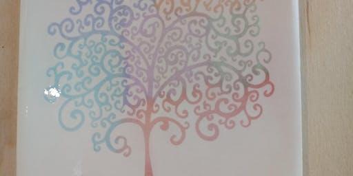 Laser Engrave and Paint Tile Workshop, Art, Make a coaster, Fab Lab