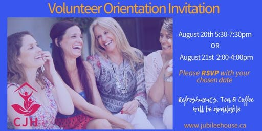 Couchiching Jubilee House ~ Volunteer Orientation Invitation