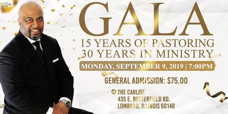 Pastor Andre' R. Fluker 15/30 Gala Celebration tickets