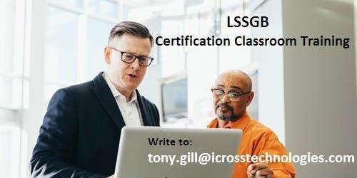 Lean Six Sigma Green Belt (LSSGB) Certification Course in Rancho Santa Margarita, CA
