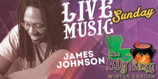 James Johnson Performing Live on The Big Easy Stage