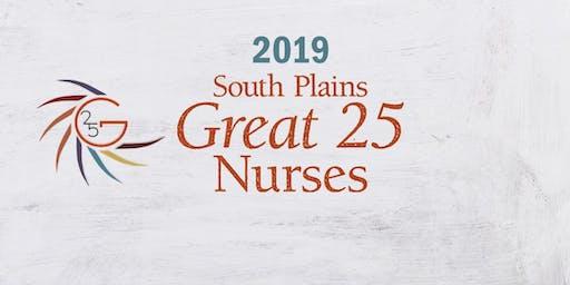 2019 South Plains Great 25 Nurses Awards Banquet