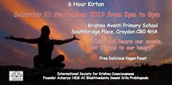 6 hour Kirtan Tickets, Sat 21 Sep 2019 at 14:00 | Eventbrite