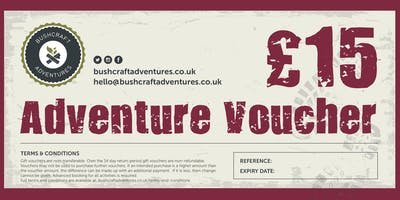 Gift Vouchers - for a Bushcraft Adventure near Cardiff