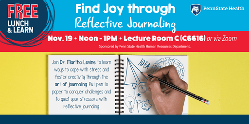 Lunch & Learn: Find Joy through  Reflective Journaling