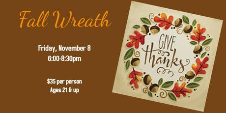 Fall Wreath Painting Friday Night Art tickets