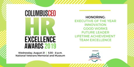 Columbus CEO's HR Excellence Awards 2019 tickets