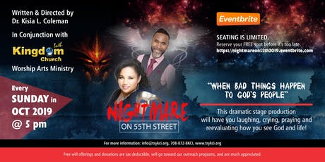 "Nightmare on 55th Street - ""When Bad Things Happen to God's People"" 2019 tickets"