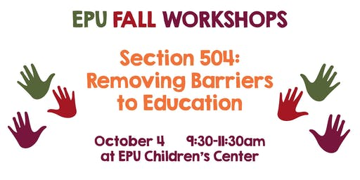 Section 504: Removing Barriers in Education