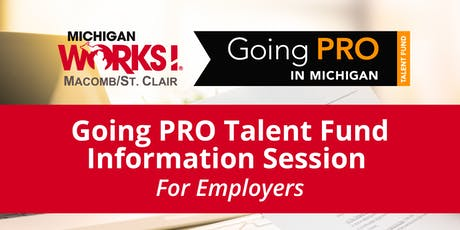 Going PRO Talent Fund Information Session for Employers tickets