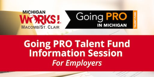 Going PRO Talent Fund Information Session for Employers