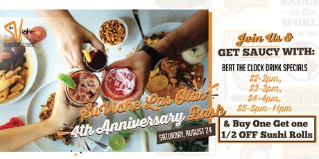SuViche Las Olas Beat the Clock Anniversary Party tickets