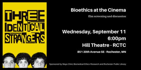 Three Identical Strangers - Bioethics at the Cinema tickets