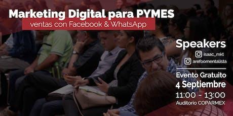 """""""Marketing digital para PYMES"""" """"Ventas con Facebook y Whatsapp"""" entradas"""