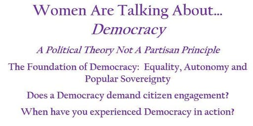 Women Are Talking About...DEMOCRACY