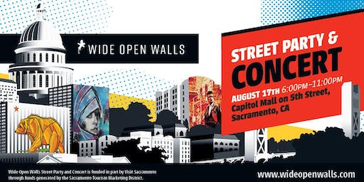 Wide Open Walls Street Party & Concert 2019