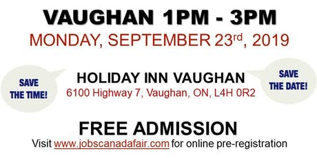 Vaughan Job Fair - September 23rd, 2019 tickets