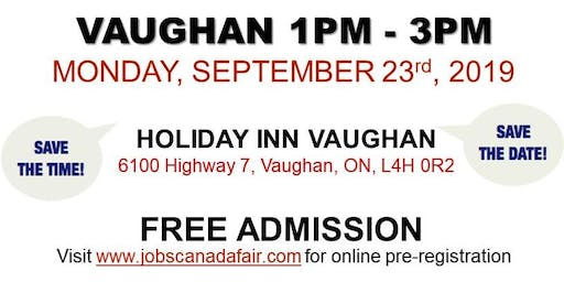 Vaughan Job Fair - September 23rd, 2019