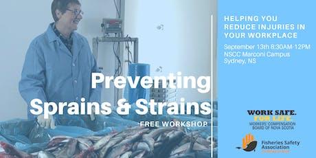 Preventing Sprains & Strains Workshop SYDNEY tickets