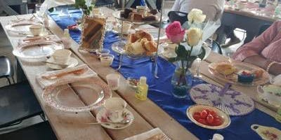 Sapphires & Pink Roses: A Tea Party