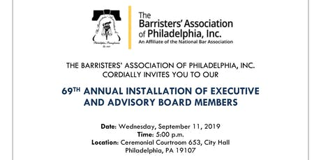 69th Annual Installation of Executive & Advisory Board Members tickets