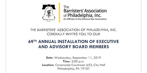 69th Annual Installation of Executive & Advisory Board Members