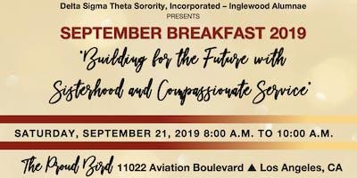 Inglewood Alumnae Chapter September Breakfast 2019