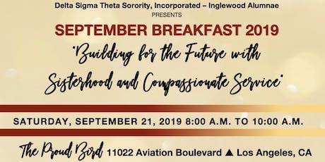 Inglewood Alumnae Chapter September Breakfast 2019 tickets