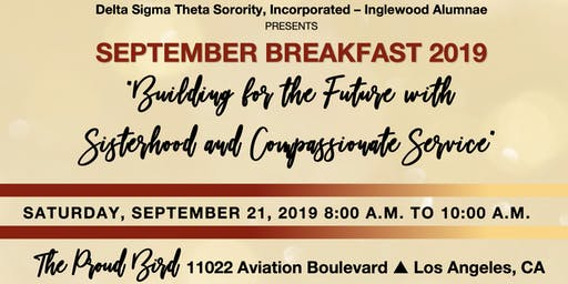 Inglewood Alumnae Chapter September Breakfast 2019