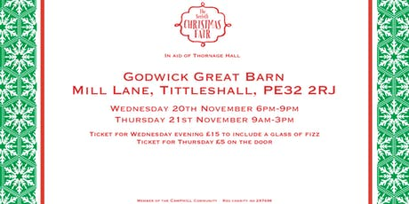 The Norfolk Christmas Fair in aid of Thornage Hall (Wednesday evening) tickets