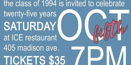 Bowsher High School Class of 1994's 25 Year Reunion tickets