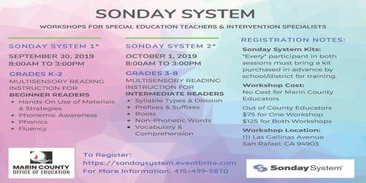 Sonday System Workshops