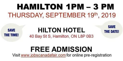Hamilton Job Fair –  September 19th, 2019