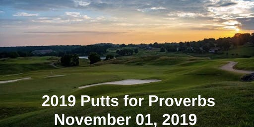 2019 Putts for Proverbs Golf Scramble