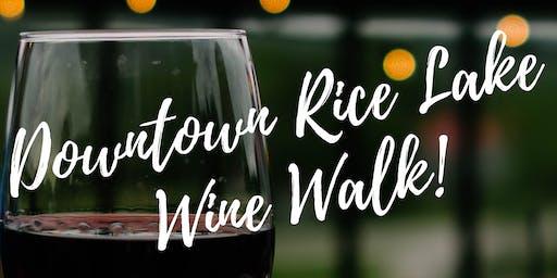 Downtown Rice Lake Wine Walk
