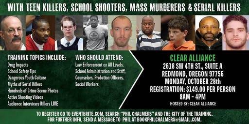 Profiling Teen Killers, School Shooters, Mass Murderers and Serial Killers by Phil Chalmers-Redmond, OR October 28, 2019
