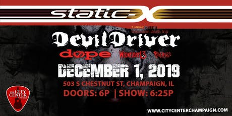 Static-X Wisconsin Death Trip - 20th Anniversary Tour