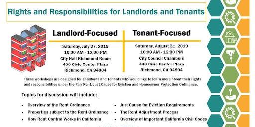 2019 Richmond Rent Program Community Workshops