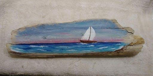 Paints & Pints: Driftwood Seascape
