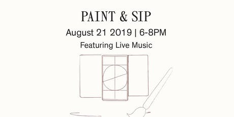 "Paint And Sip with ""Wine of a Kind""- August tickets"