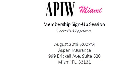 APIW Miami Sign-Up Session August 20th, 2019 tickets