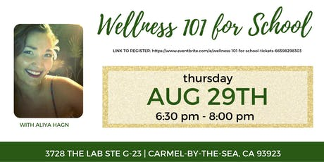 Wellness 101 for School tickets