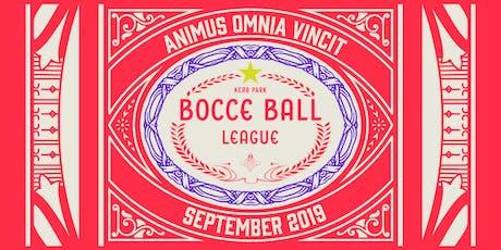 Kerr Park Bocce Ball League tickets