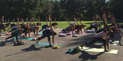 Yoga + Bloody Marys in Lafayette Park
