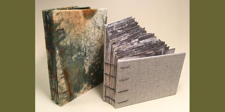 DOUBLE NEEDLE COPTIC BOUND BOOK WITH PAINTED PAPERS (Two Days) tickets