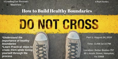 How to Build Healthy Boundaries tickets